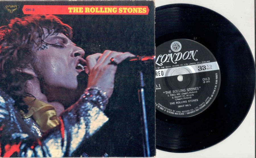 Rolling Stones Tell+Me(Japan+70s+4-Trk+7''Ep+Unique+Gatefold+Ps) 45:PICSLEEVE