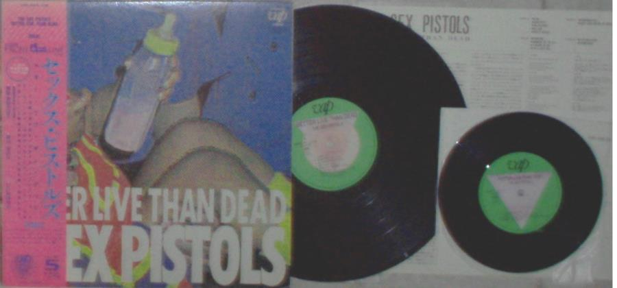 Sex Pistols Better Live Than Dead(Japan 1986 Ltd 9-Trk Lp + 4-Trk 7''Ep Set On Vap Lbl Ps+Obi 45RPM:EP