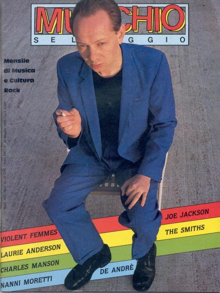Joe Jackson Mucchio Selvaggio(May 1984)(Italian 1984 Joe Jackson Front Cover Magazine) MEMORABILI