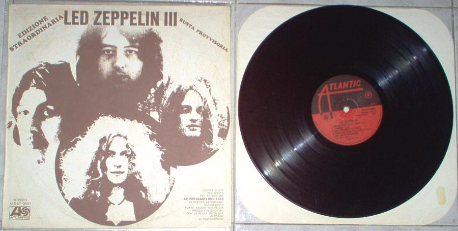 Led Zeppelin Led+Zeppelin+Iii(Italian+1970+Pre-Release+Lp+Unique+'Edizione+Straordinaria'+Ps) LP