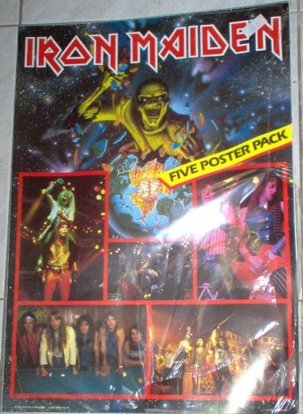 Iron Maiden Five Poster Pack(Uk 1984 Official Iron Maiden Holding Ltd 5xcolour Posters Pack) MEMORABILI