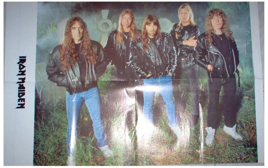 Iron Maiden Iron Maiden #4(Italian 90s Maiden Large Size Colour Poster) POSTER