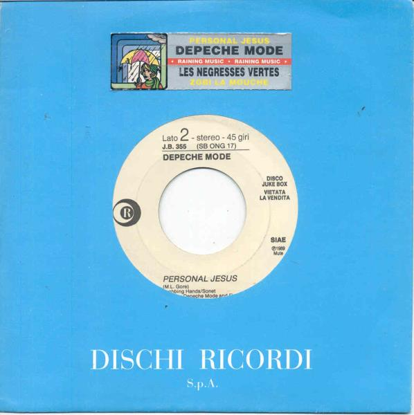 Depeche Mode Personal Jesus(Italian 1989 W/Label 7'' Promo Company Title Sticker Slv) 7''