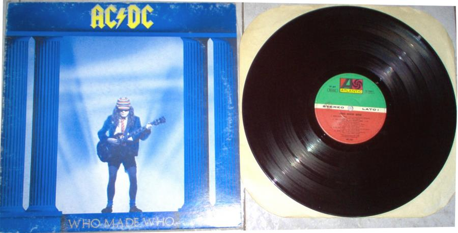 Ac/Dc Who+Made+Who(Italian+1986+9-Trk+Lp+Full+Ps)Vg+ LP