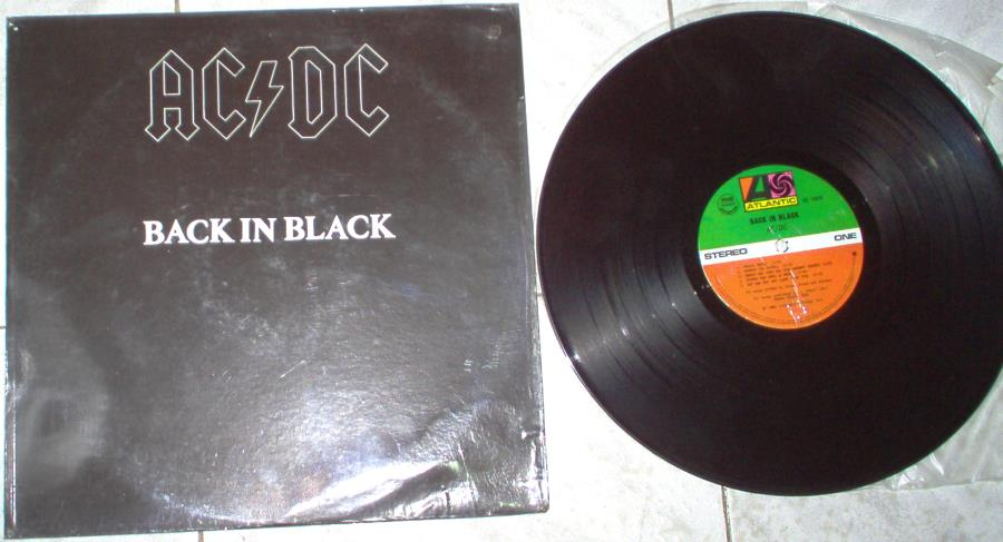 Ac/Dc Back+In+Black(Philippines+1980+10-Trk+Lp+Full+Ps) LP