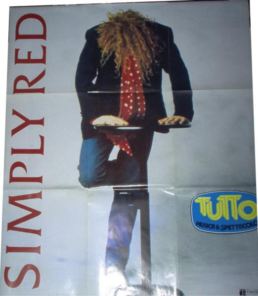Simply Red Simply Red(Italian 80s Original Tour Promo Poster) MEMORABILI
