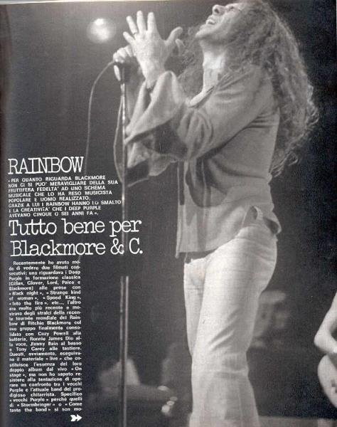 Deep Purple / Rainbow Ciao+2001(11.09.1977)(Italian+1977+Music+Magazine) MEMORABILI