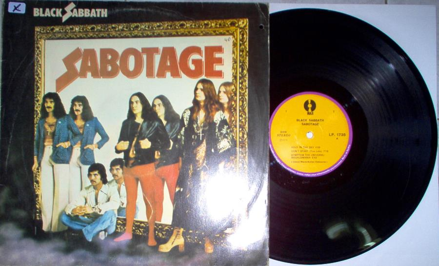 Black Sabbath Sabotage(Turkish+1975+7-Trk+Lp+On+Max+Lbl+Single+Ps) LP