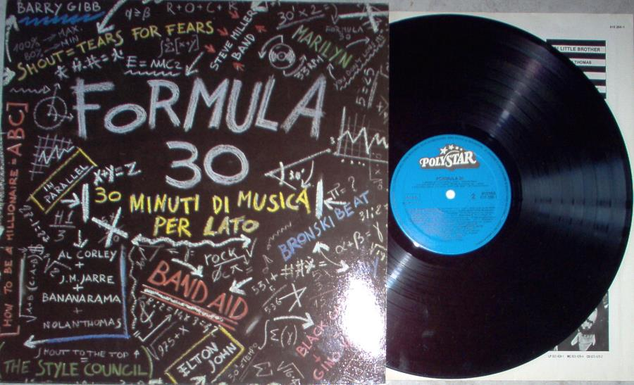 Jarre,Jean Michel Formula 30(Italian 1984 16-Trk V/A Lp Full Ps) LP