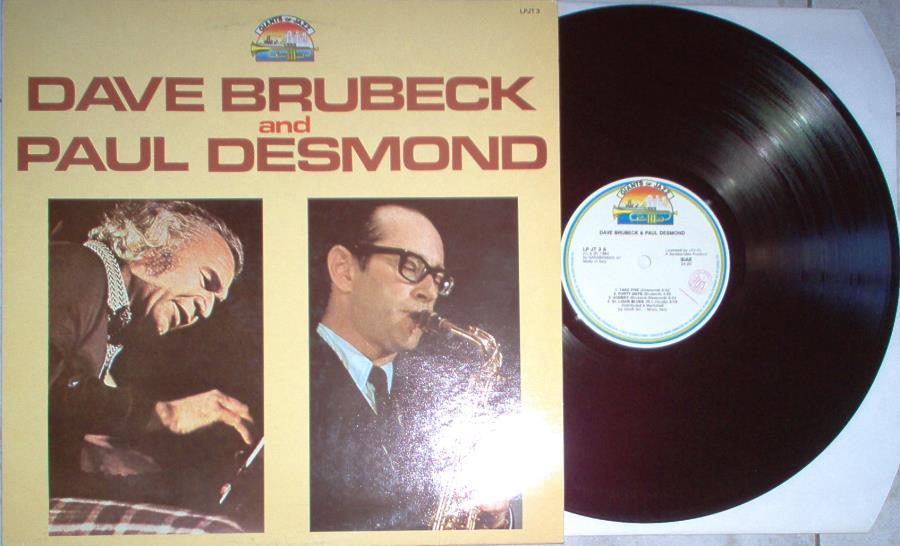 Dave Brubeck And Paul Desmond Dave Brubeck And Paul Desmond(Italian 1984 'Giant Of Jazz' Series 7-Trk Lp Full LP