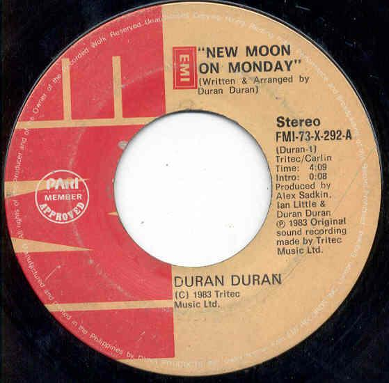 Duran Duran New+Moon+On+Monday(Philippines+1983+2-Trk+Single+On+Emi+Lbl) 7''