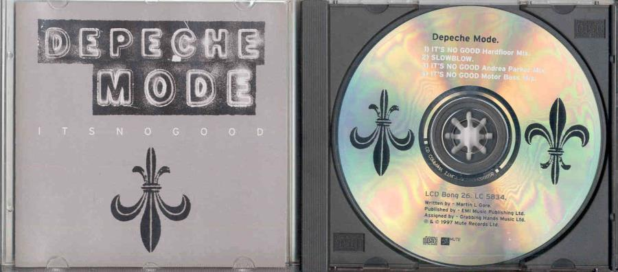 Depeche Mode It's+No+Good(Italian+1997+Ltd+4-Trk+Cd2+Thick+Jewel+Case+Ps) CD:SINGLE
