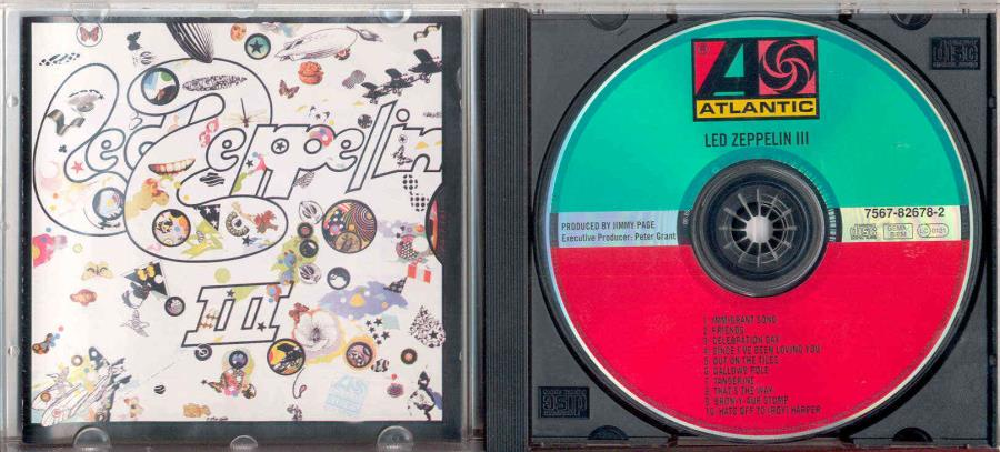 Led Zeppelin Led+Zeppelin+Iii(German+10-Trk+Cd+Album+Ps) CD