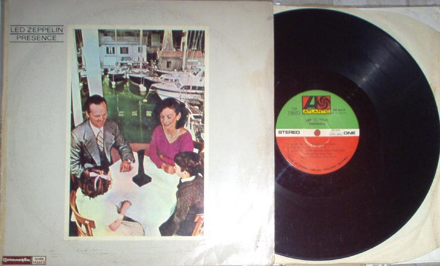 Led Zeppelin Presence(Turkish+1976+7-Trk+Lp+Alternate+Colour+Single+Ps) LP
