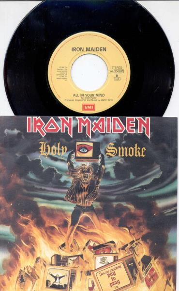 Iron Maiden Holy+Smoke(Italian+1990+2-Trk+Single+Full+Ps) 45:PICSLEEVE