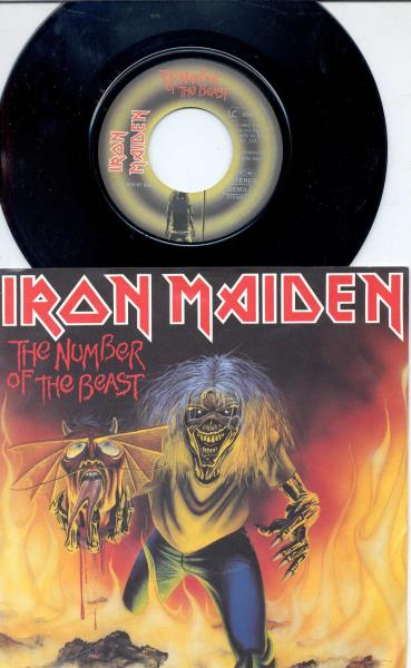 Iron Maiden Number+Of+The+Beast(German+1982+2-Trk+Single+Full+Ps) 45:PICSLEEVE
