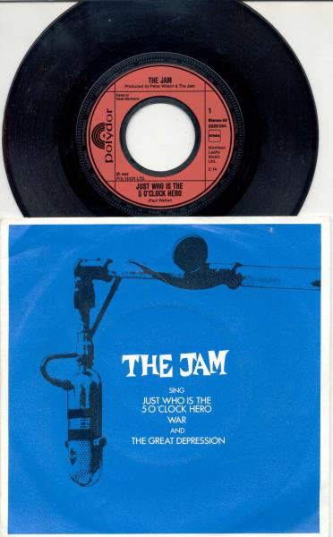 Jam Just Who Is The 5 O'clock Hero(German 1982 3-Trk Ep Full Ps) 45RPM:EP