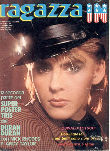 Duran Duran Ragazza In(N.6-5 Feb.1985)(Italian 1985 Full Nick Rhodes Poster Magazine) MEMORABILI