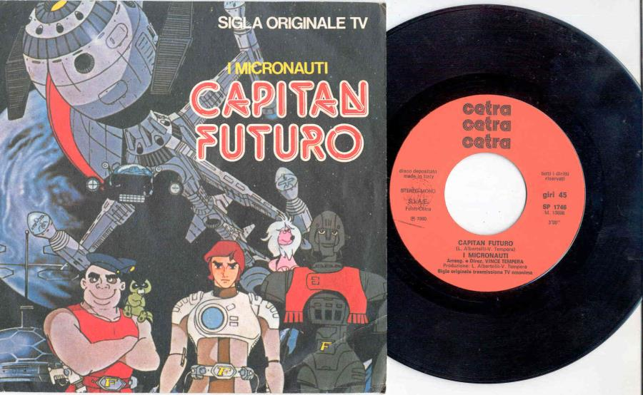 images of Capitan futuro(italian 1980 2-trk 7 single full ps) FONIT CETRA