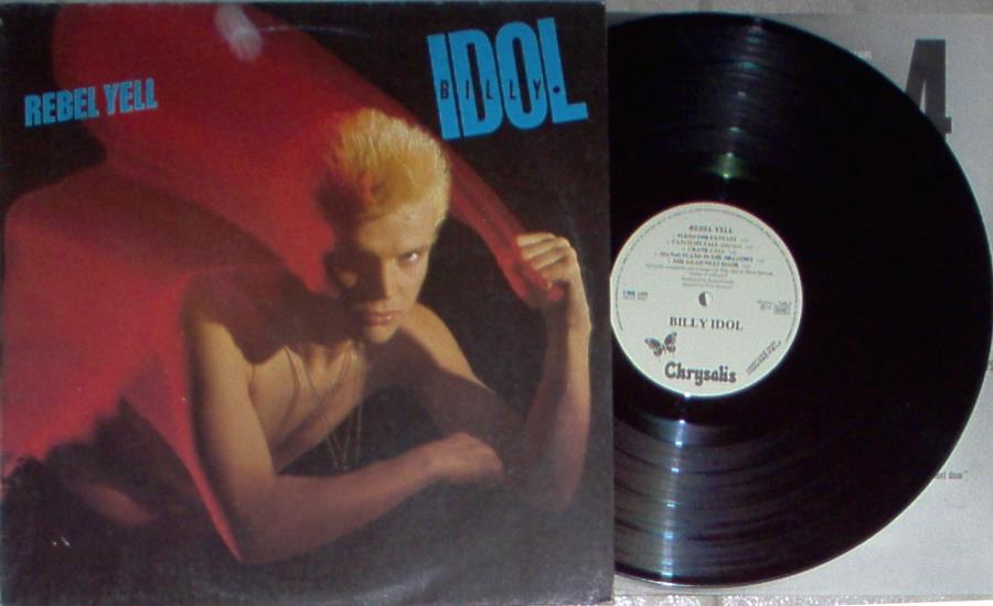 Idol,Billy Rebel Yell(Italian 1984 W/Label 9-Trk Lp Promo Ps And Inner Slv) LP