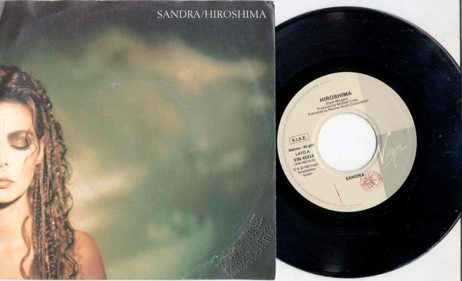 Sandra Hiroshima(Italian 1989 2-Trk Promo 7'' Single Full Ps) 45:PICSLEEVE