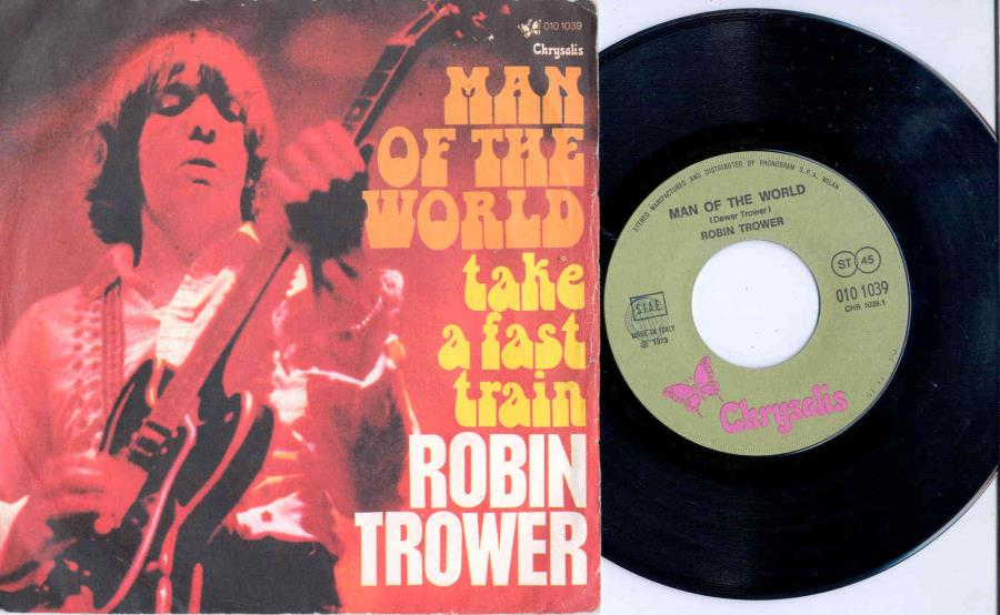 Procol Harum / Robin Trower Man Of The World(Italian 1973 2-Trk 7'' Single Unique Ps) 45:PICSLEEVE