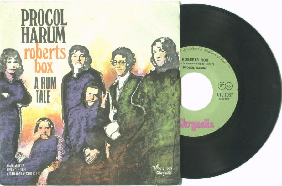 Procol Harum Roberts Box(Italian 1973 2-Trk 7'' Single Unique Ps) 45:PICSLEEVE